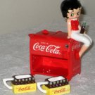 Betty Boop Coca-Cola Mini Tea Set Miniature Ceramic Vandor 11354 Coke NIB 2000