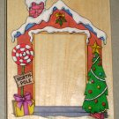 North Pole Frame Large Rubber Stamp Stamper Wooden Christmas Holiday All Night Media 816K 5 x 4 ANM