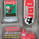 Coca-Cola Town Square Collection Accessories Delivery Truck Thermometer Sign Coke NIB