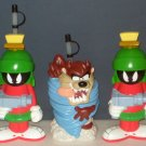 Looney Tunes Water Drink Bottle Lot Marvin the Martian Taz Tasmanian Devil 1996 Monogram Products