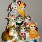 Catmas Tree Musical Figurine Cats San Francisco Music Box Company Mary Badenhop 31-39270-0-00 NIB