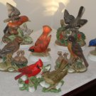 Ceramic Bird Figurines Figures Homco Lefton Andrea By Sadek Cardinal Waxwing Tanager Mockingbird