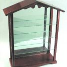Lenox Garden Bird Wooden Display Rack Cabinet 3 Shelf Mirrored Glass Hardwood Unit NIB New