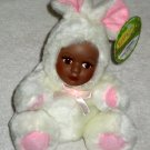 Kuza Kidz Kuddle Kritters Plush African American Baby Doll Bunny Rabbit