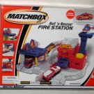 Matchbox Roll &#39;n Rescue Fire Station Playset 88449 Mattel NIB Factory Sealed 2001