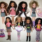 8 Moxie Girlz Girls Doll Lot 10 Inch MGA 2009 Outfits Clothes Clothing Boots Shoes