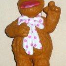 Fozzie Bear  3 3/4 Inch PVC Plastic Figure Muppets Sesame Street Jim Henson