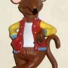 Rizzo 2 1/4 Inch PVC Plastic Figure Mouse Rat Muppets Sesame Street Jim Henson