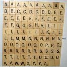 100 Natural Wood Scrabble Replacement Tiles Wooden Crafts Scrapbooking