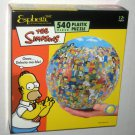 The Simpsons 540 Piece Plastic Spherical Jigsaw Puzzle Round Puzzleball Esphera 360 Complete