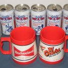 Baltimore Orioles Lot Drinking Glass Pepsi Can Tankard Horn Cal Ripken Jr McDonalds Texaco Budweiser