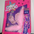 Vintage Super Star Fashions Barbie Doll Outfit Movie Star Boa Dress Gown 1988 Mattel