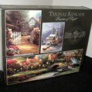 3632-4 Thomas Kinkade Deluxe Three Jigsaw Puzzle Set 700 550 100 Piece NIB Factory Sealed