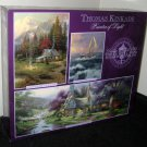 3632-8 Thomas Kinkade Deluxe Three Jigsaw Puzzle Set 700 550 100 Piece NIB Factory Sealed