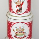 Campbell's Kids Nesting Metal Tin 4 Piece Canister Set Boy Girl Ballonoff Products 1991