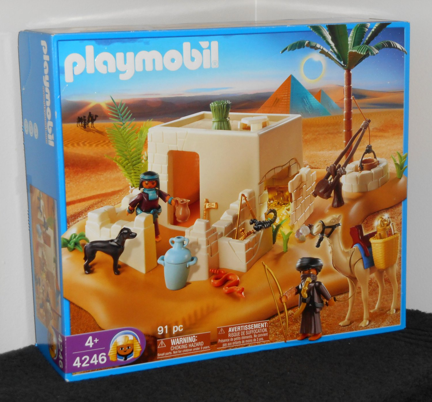 Playmobil 4246 egyptian tomb with treasure 100 complete - Playmobil egyptien ...