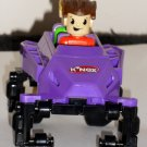 K'Nex Knex Purple Car with 2 Riders Rippin Rocket Roller Coaster Replacement Parts