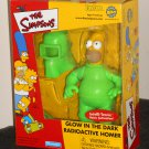 GITD Radioactive Homer Simpson Figure Interactive Glow in the Dark Toyfare Mail Away Playmates Toys