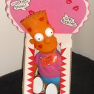 Bart Simpson 5 Doll Lot Bank Sappy Valentines Rag Doll Plush Stick-On DanDee Dan Dee 1990