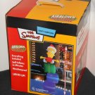 Bart Simpson Airblown Inflatable Christmas Presents Gifts 8 Feet Lights Up Fan Gemmy Simpsons 2003