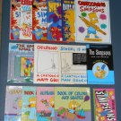 The Simpsons Book + Magazine Lot Homer Bart Maggie Matt Groening Lisa Marge Post Cards