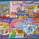 The Simpsons Calendar & Family Organizer Lot Homer Bart Maggie Marge 2003 2004 2005 2006 2007 2009