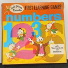Vintage 1969 Walt Disney Characters First Learning Game Numbers