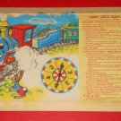 Happy Little Train Board Game Box Insert with Spinner Rules 1957 Replacement Milton Bradley 4959