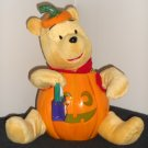 Winnie the Pooh 12 Inch Halloween Figure Singing Animated Light-Up Jack-O-Lantern Plush Disney