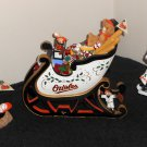 Baltimore Orioles Danbury Mint Sculpture Lot Figure Figurine Sleigh Sled Snowman Mrs Claus MLB More