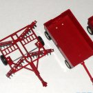Ertl 1:16 Scale IH International Harvester Tractor 415 Lot Red Diecast Metal Wagon Trailer Disc Plow