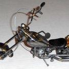 Metal Art Motorcycle Chopper Sculpture Scrap Parts Bike Cycle Screws Bolts Bearings Wire