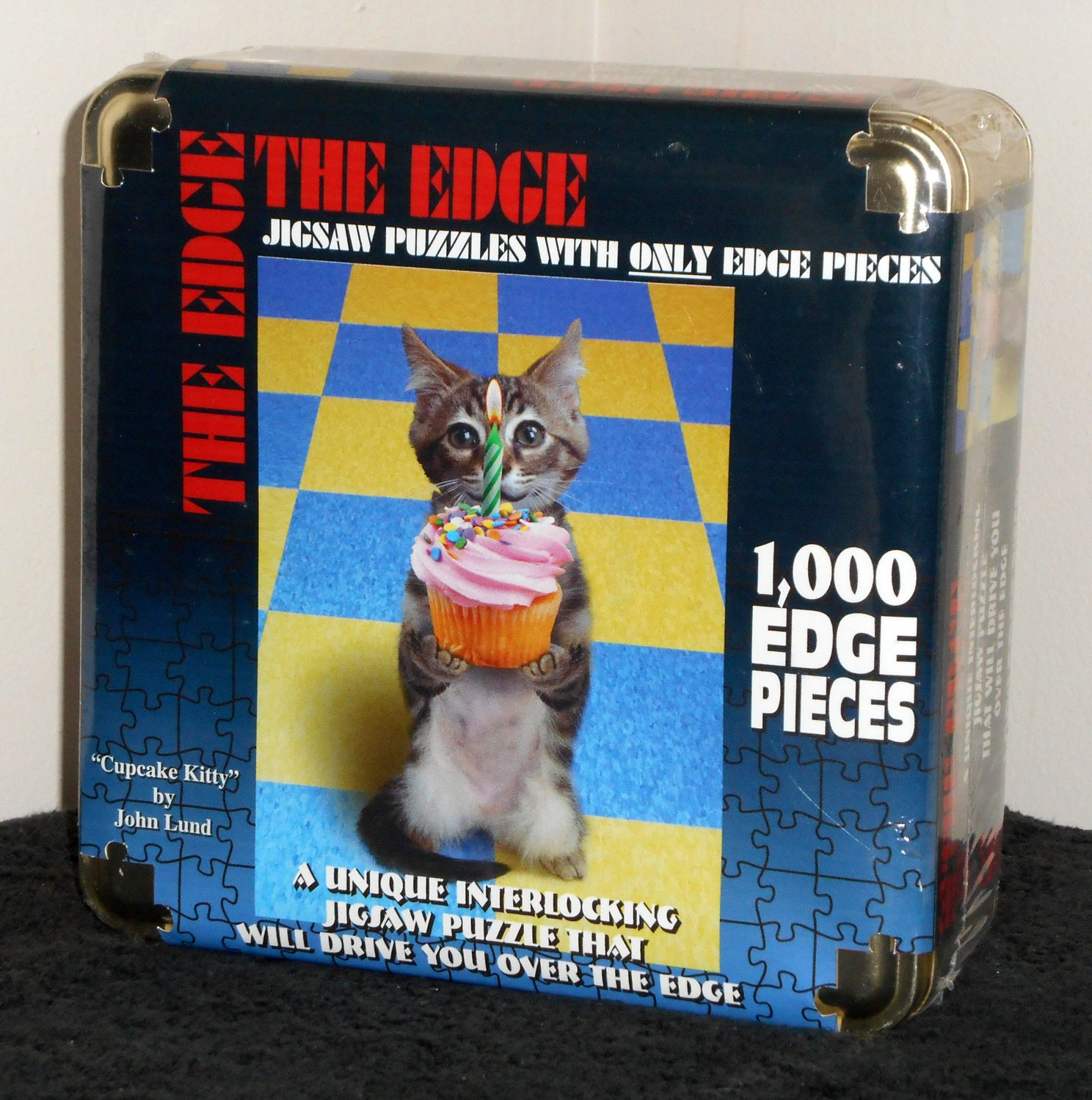 The Edge Cupcake Kitty 1000 Piece Jigsaw Puzzle in Tin NIB Factory Sealed TDC Games
