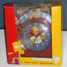 The Simpsons It's Duff Time Desk Alarm Clock Beer Homer Simpson La Brea 2002 Fox TV