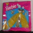"Barbie Sparkle Eyes Fashions Outfit 4680 11½"" Doll Clothes Dress Gown Yellow Gold Shoes Mattel 1991"