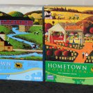 Hometown Collection 1000 Piece Jigsaw Puzzle Lot of 2 Different Heronim Wysocki COMPLETE
