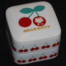 Hello Kitty Ceramic Stacking Box Boxes 3 Piece Cherry Cherries Jewelry Trinket 2005 Sanrio