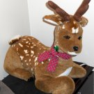 Animated 21 Inch Plush Reindeer Baby Deer Santa's Best Holiday Decor Tan White Spots AC Powered