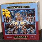 Eric Dowdle 500 Piece Jigsaw Puzzle Gingerbread House Folk Art Map Box NIB Sealed 16 x 20