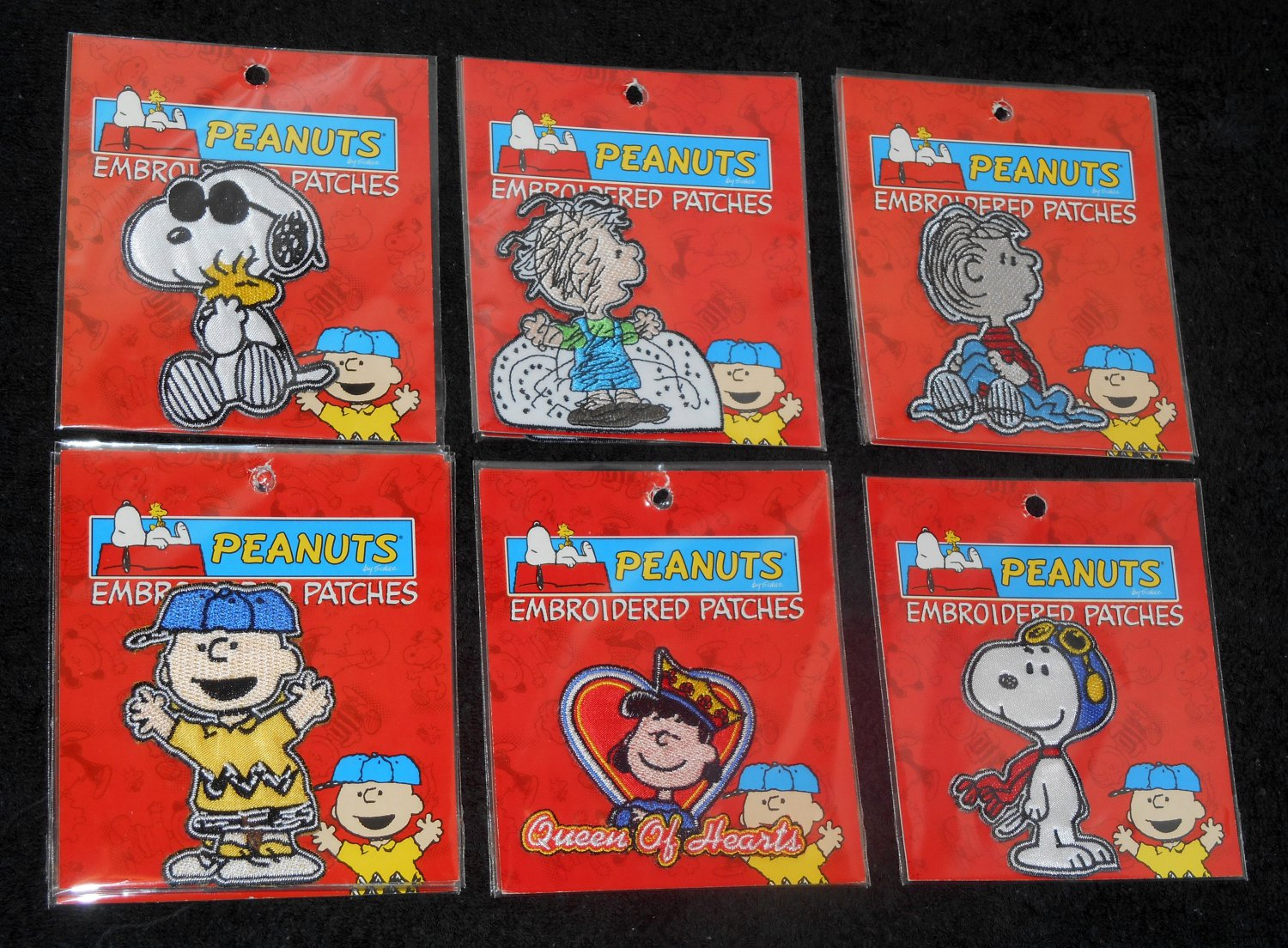 Peanuts Gang Embroidered Patch Lot Snoopy Woodstock Charlie Brown Lucy Linus Pigpen Kalan NIP