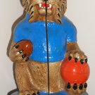 Kentucky Wildcats Lot Mascot Bookends UK Glass Jar Tin Metal Can Basket Trash Trashcan Wastebasket