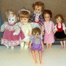 Vintage Baby Doll Lot of 6 Horsman Sleepy Eyes Walking Hard Soft Body Pale 14 to 18 Inch