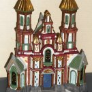 Traditions Lighted Christmas Village 59979 Seven Porcelain Handpainted Buildings Plus More with Box