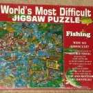 Fishing Edition World's Most Difficult Jigsaw Puzzle 529 Piece NIB SEALED Buffalo Games