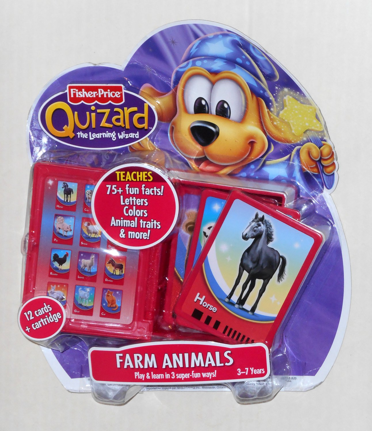 Fisher Price Quizard Farm Animals Card Pack J8240 The