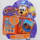 Fisher Price Quizard Vehicles Card Pack J8239 The Learning Wizard NIP 12 Cards Book Case