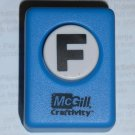 McGill Craftivity Paper Punch Letter F Upper Case Capital Scrapbooking