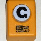 McGill Craftivity Paper Punch Letter G Upper Case Capital Scrapbooking