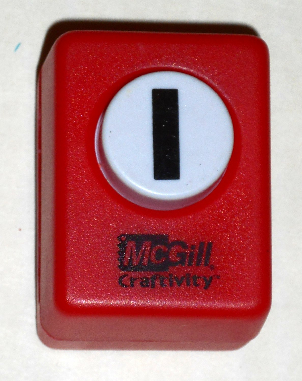 McGill Craftivity Paper Punch Letter I Upper Case Capital Scrapbooking