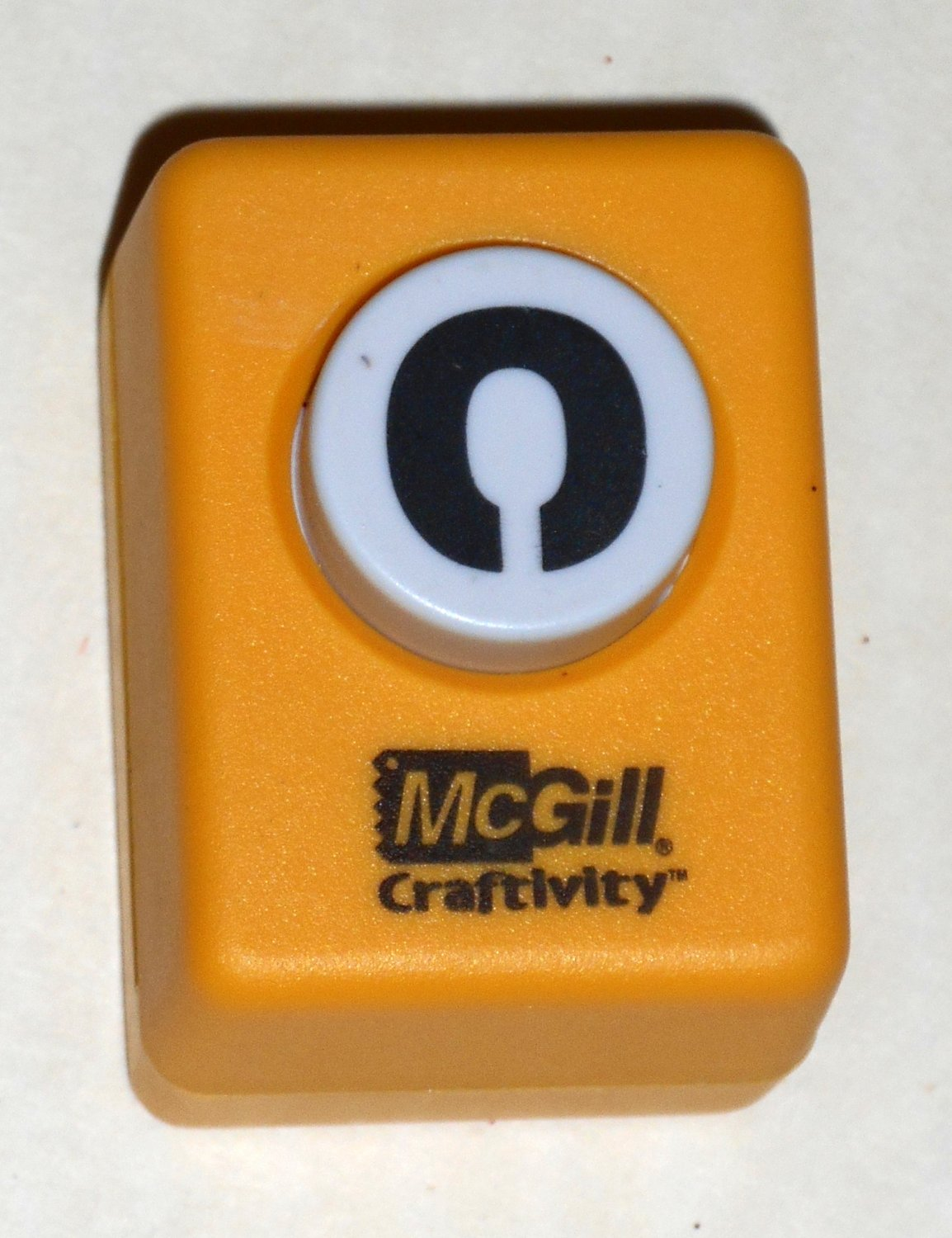 McGill Craftivity Paper Punch Letter O Upper Case Capital Scrapbooking